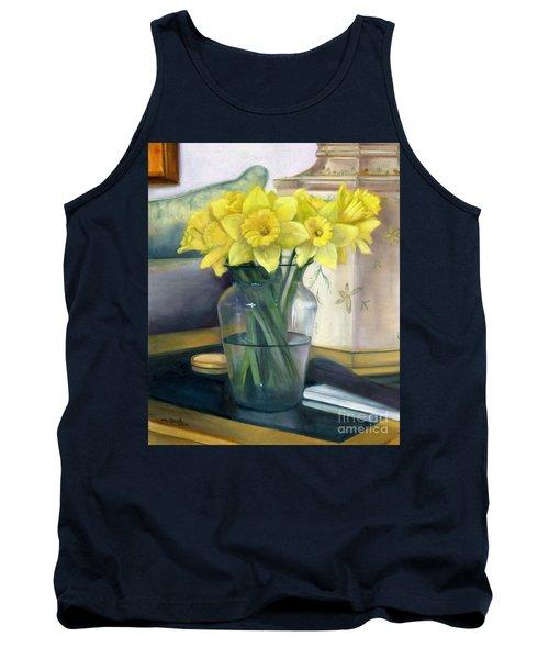 Yellow Daffodils Tank Top by Marlene Book