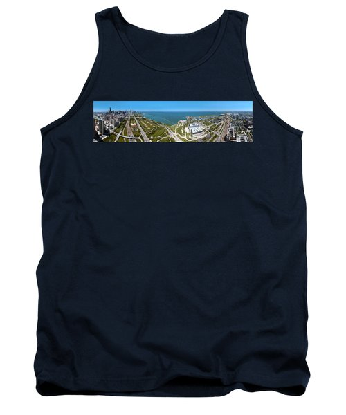 180 Degree View Of A City, Lake Tank Top by Panoramic Images