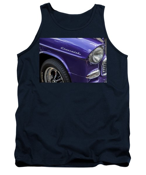 1955 Chevrolet Purple Monster Tank Top