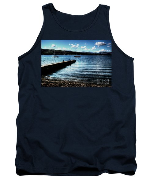 Tank Top featuring the photograph Boats In Wales by Doc Braham