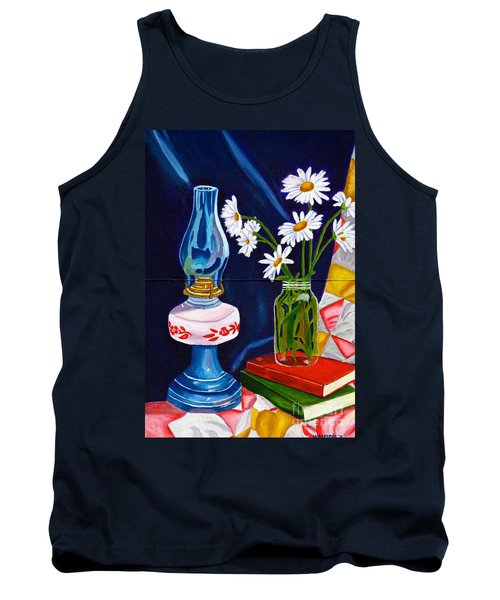 Tank Top featuring the painting 2 Books And A Lamp by Laura Forde