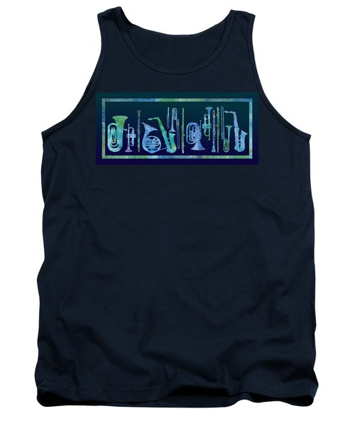 Cool Blue Band Tank Top by Jenny Armitage