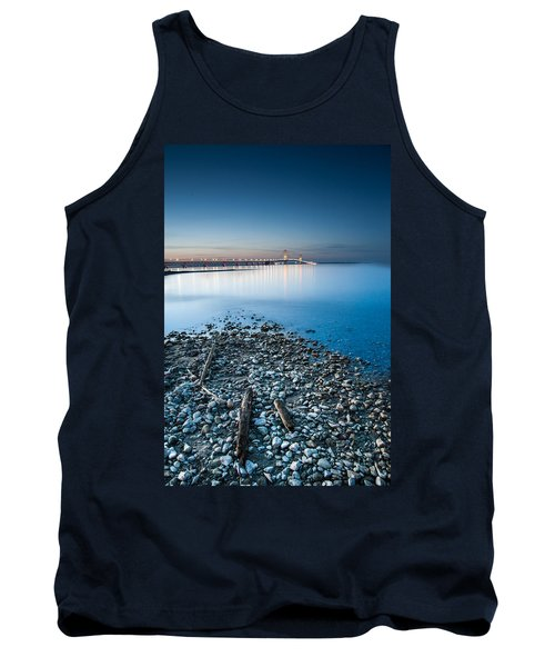 Tank Top featuring the photograph Mackinac Bridge by Larry Carr