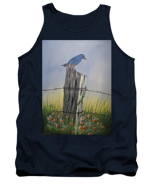 Mountain Bluebird Tank Top