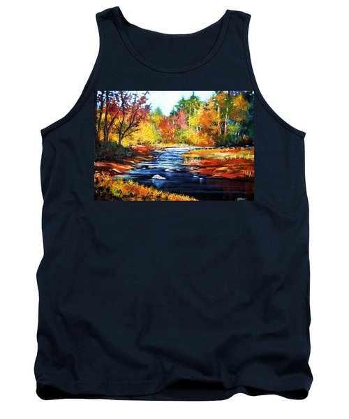 Tank Top featuring the painting October Bliss by Al Brown