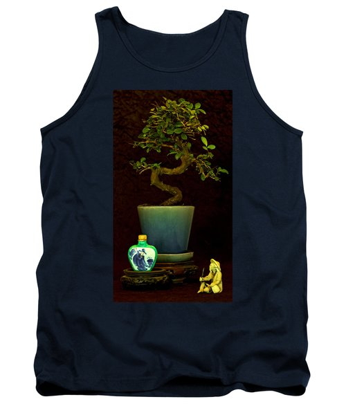 Old Man And The Tree Tank Top by Elf Evans