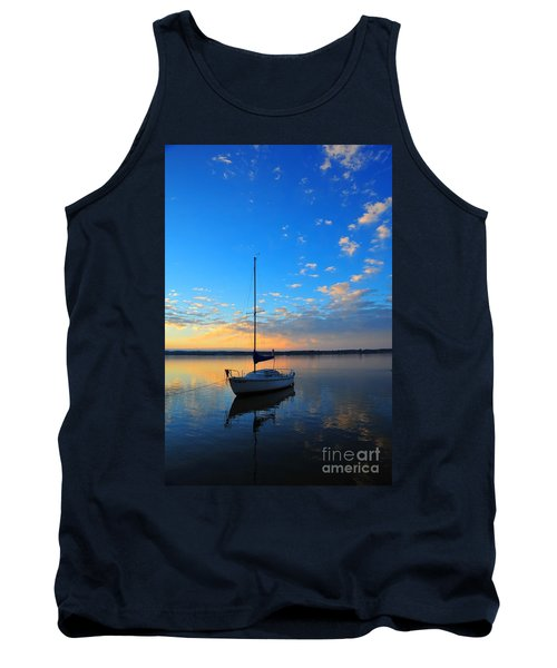 Tank Top featuring the photograph Sailing 2 by Terri Gostola