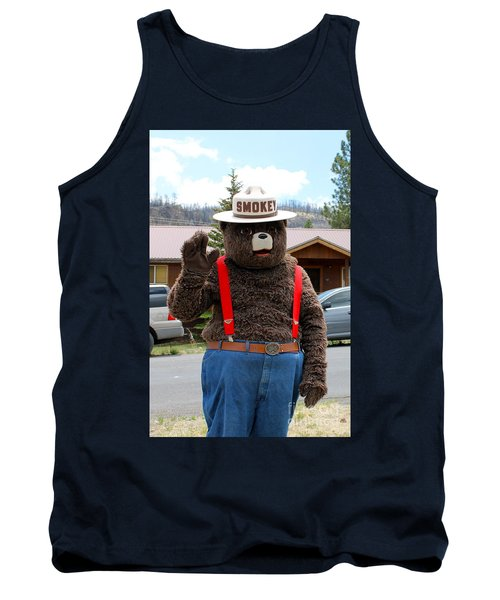 Smokey The Bear Tank Top by Pamela Walrath