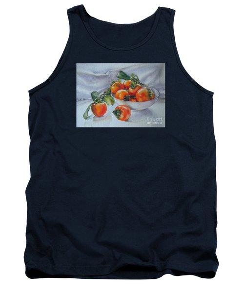 Summer Harvest  1 Persimmon Diospyros Tank Top
