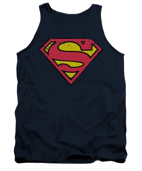 Superman - Distressed Shield Tank Top