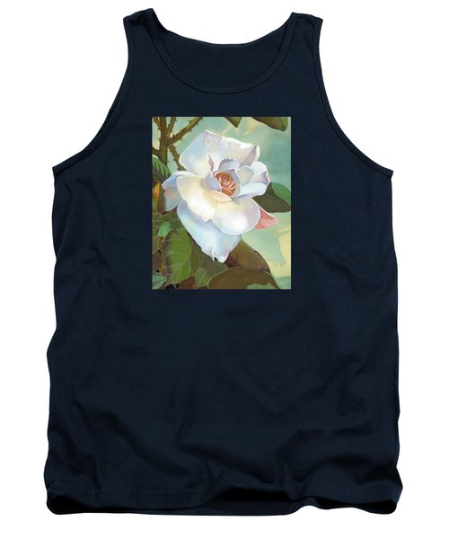 Tank Top featuring the mixed media Unicorn In The Garden by J L Meadows