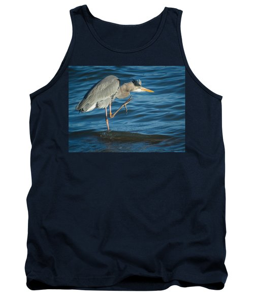 Great Blue Heron Tank Top by Jane Luxton