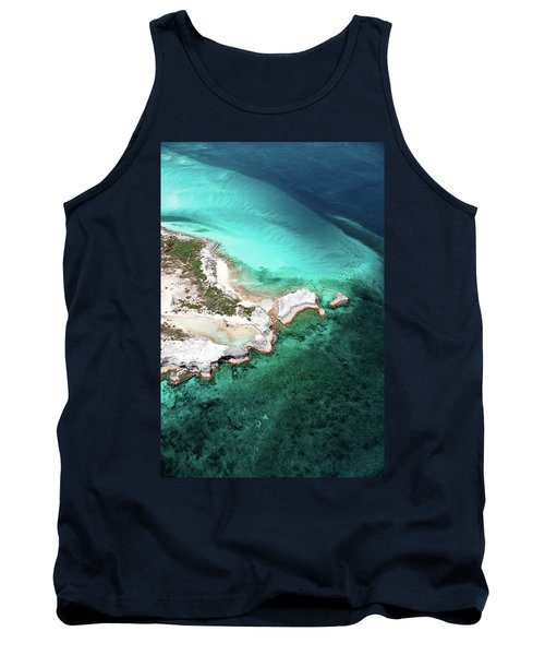 Aerial View Of Island In Caribbean Sea Tank Top