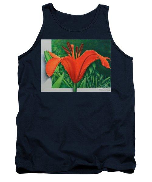 Orange Lily Tank Top