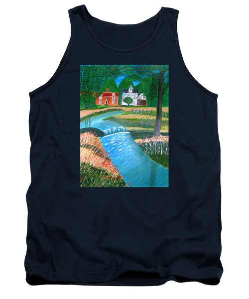 Tank Top featuring the painting A Country Stream by Magdalena Frohnsdorff