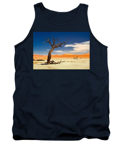 Tank Top featuring the photograph A Desert Story by Juergen Klust