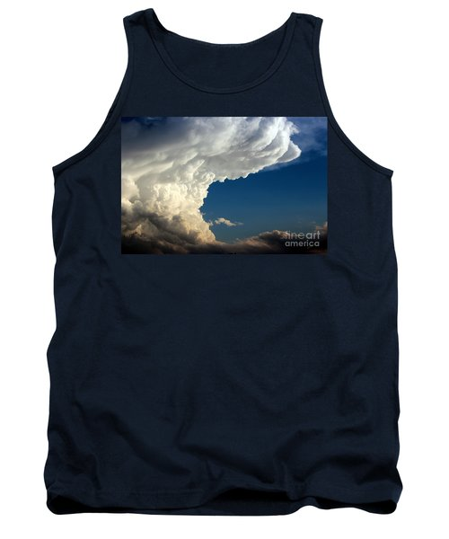 Tank Top featuring the photograph A Face In The Clouds by Barbara Chichester