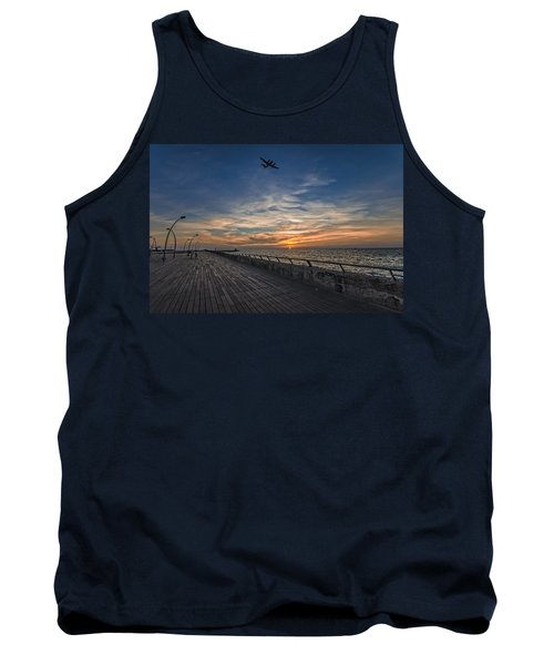 Tank Top featuring the photograph a kodak moment at the Tel Aviv port by Ron Shoshani
