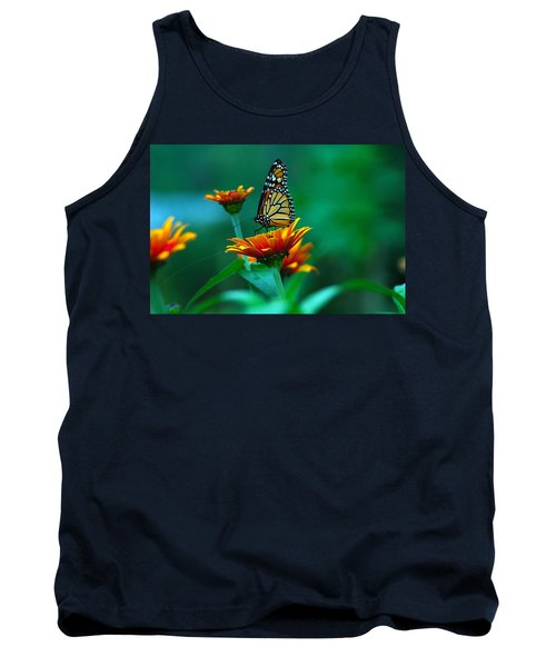 Tank Top featuring the photograph A Monarch by Raymond Salani III