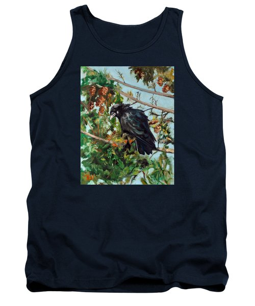 Tank Top featuring the painting A Perch For Nevermore by Pattie Wall