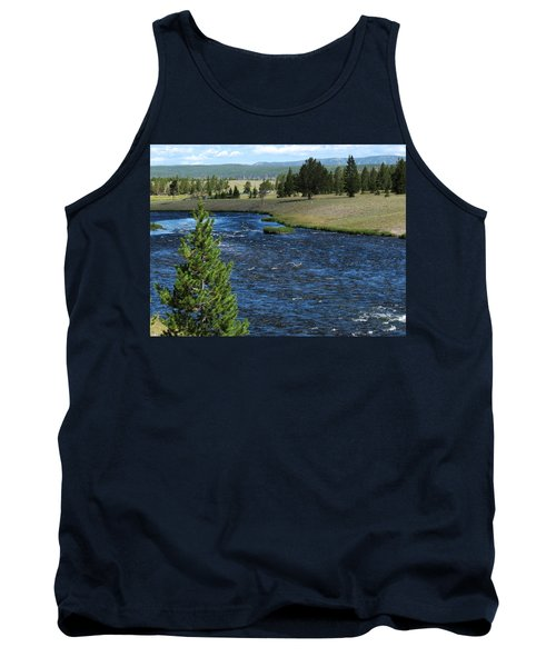 Tank Top featuring the photograph A River Runs Through Yellowstone by Laurel Powell