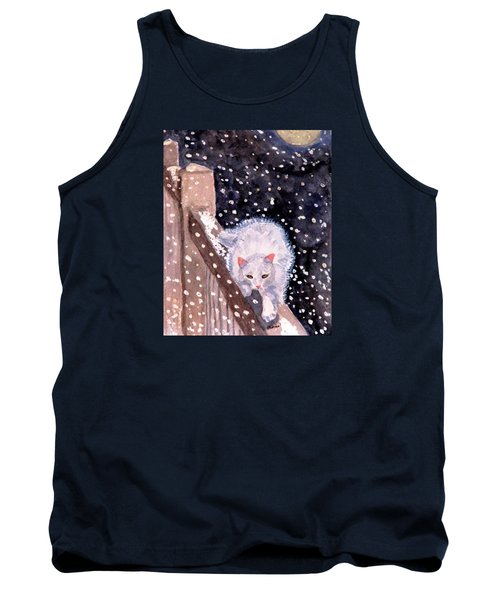 Tank Top featuring the painting A Silent Journey by Angela Davies