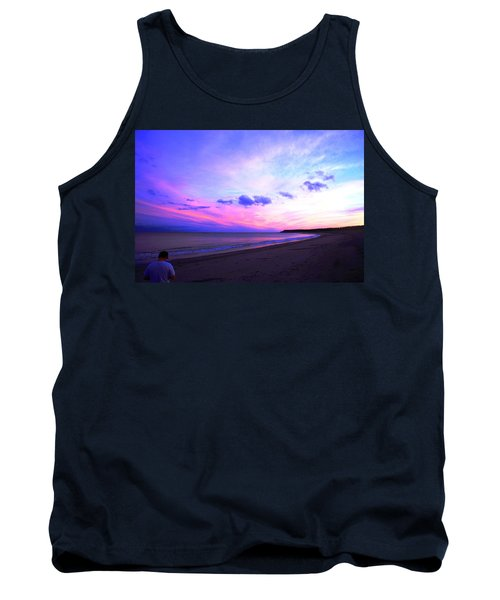 A Walk On The Beach Tank Top by Jason Lees
