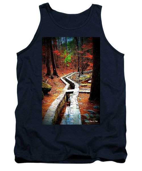 Tank Top featuring the photograph A Walk Through The Woods by Tara Potts