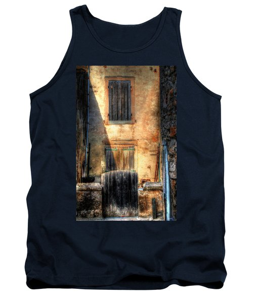 Tank Top featuring the photograph A Yard In France by Tom Prendergast