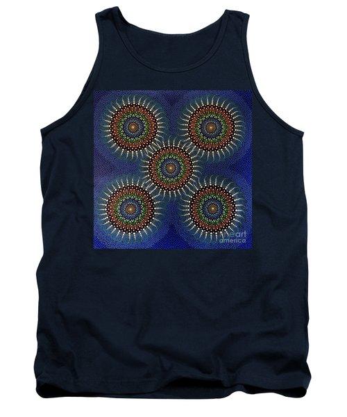 Tank Top featuring the painting Aboriginal Inspirations 16 by Mariusz Czajkowski
