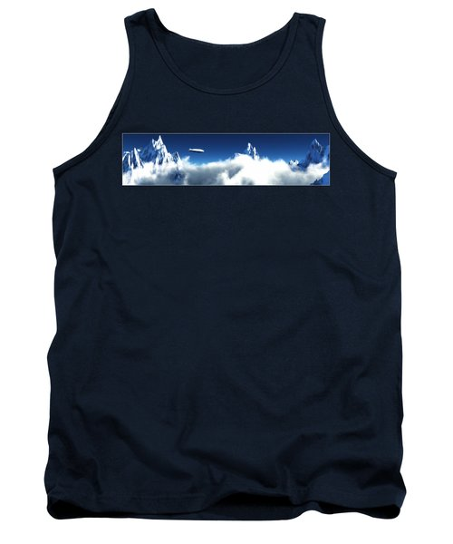 Tank Top featuring the digital art Above The Clouds... by Tim Fillingim