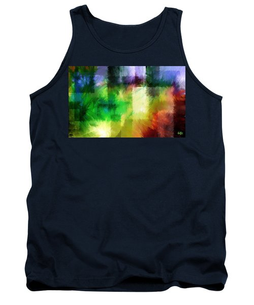 Tank Top featuring the painting Abstract In Primary by Curtiss Shaffer