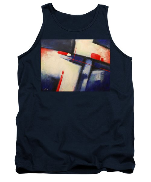 Abstract Red Blue Tank Top
