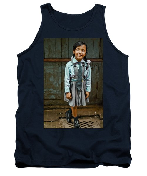 After School Pose Tank Top by Valerie Rosen