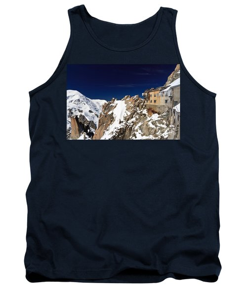 Tank Top featuring the photograph Aiguille Du Midi -  Mont Blanc Massif by Antonio Scarpi