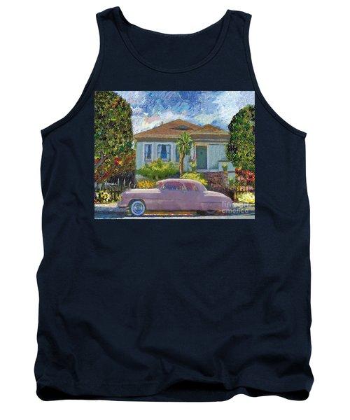 Alameda 1908 House 1950 Pink Dodge Tank Top