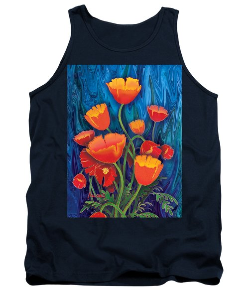 Tank Top featuring the mixed media Alaska Poppies by Teresa Ascone
