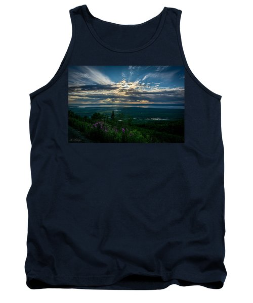 Alaskan Summer Sunset Tank Top