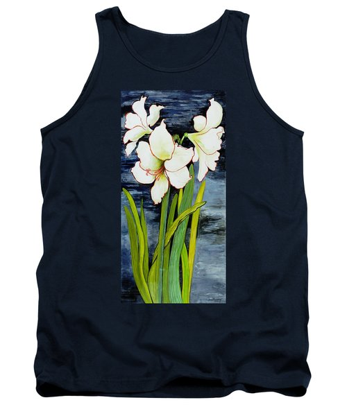 Amaryllis Against A Night Sky Tank Top