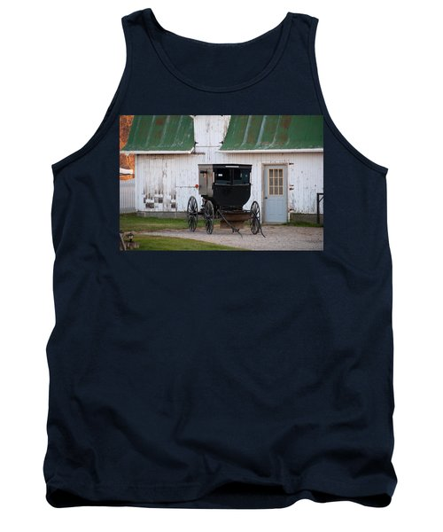 Amish Buggy White Barn Tank Top