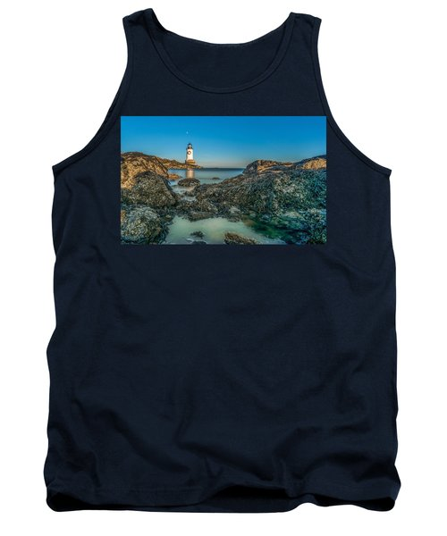 An Early Moon Over Fort Pickering Light Salem Ma Tank Top