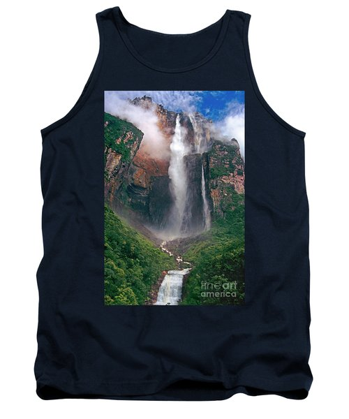 Tank Top featuring the photograph Angel Falls In Venezuela by Dave Welling