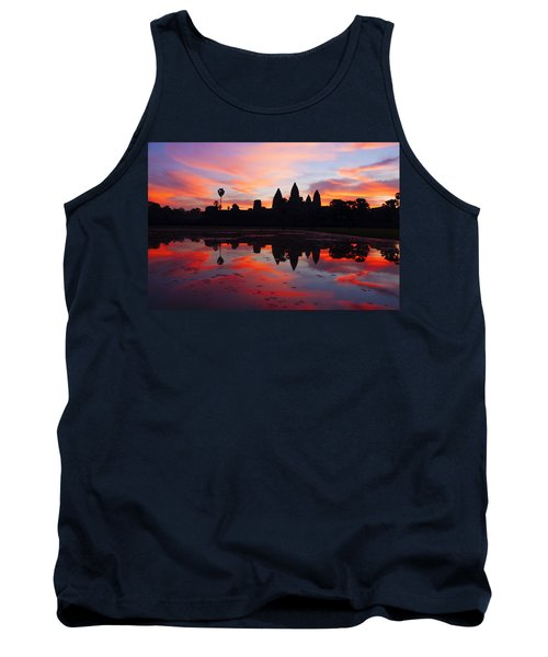Angkor Wat Sunrise Tank Top by Alexey Stiop