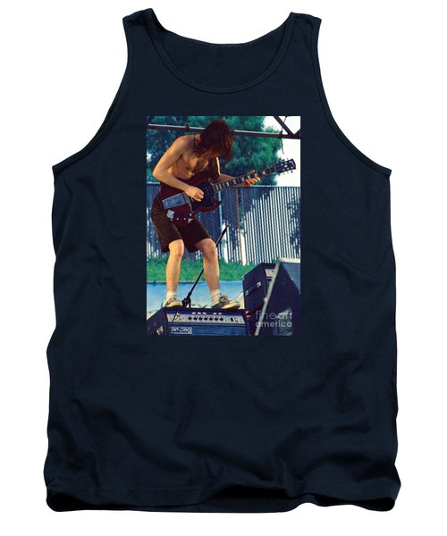 Angus Young Of A C D C At Day On The Green Monsters Of Rock Tank Top