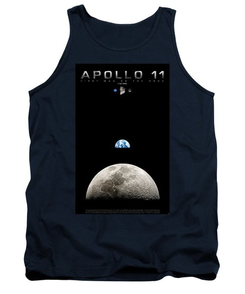 Apollo 11 First Man On The Moon Tank Top