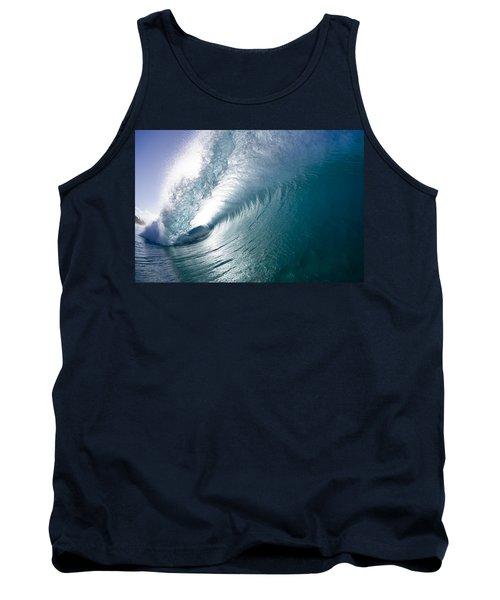 Aqua Curl Tank Top