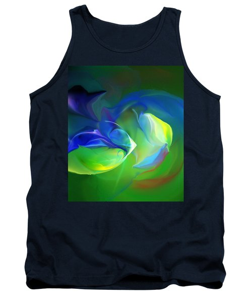 Tank Top featuring the digital art Aquatic Illusions by David Lane