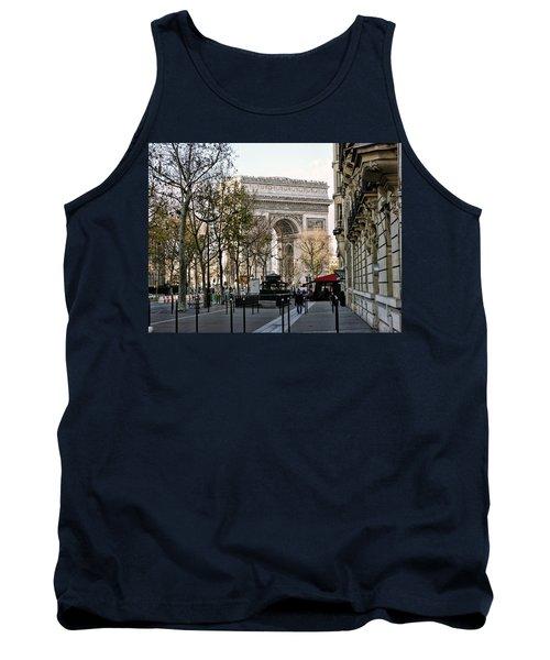 Arc De Triomphe Paris Tank Top by Lynn Bolt