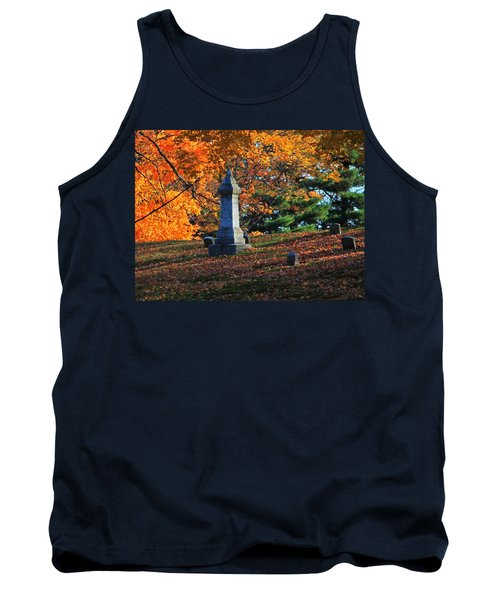 Autumn Cemetery Visit Tank Top