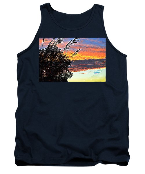Autumn Sunset Tank Top by Luther Fine Art